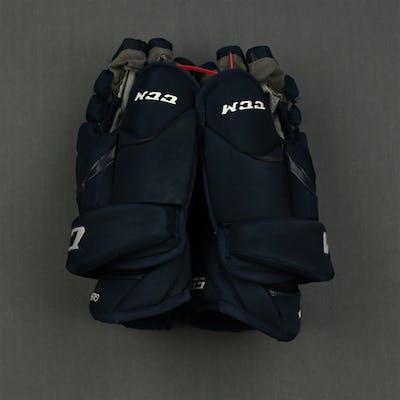 Gleason, Tim CCM Gloves, worn on April 11, 2015 Washington Capitals 2014-15 #6