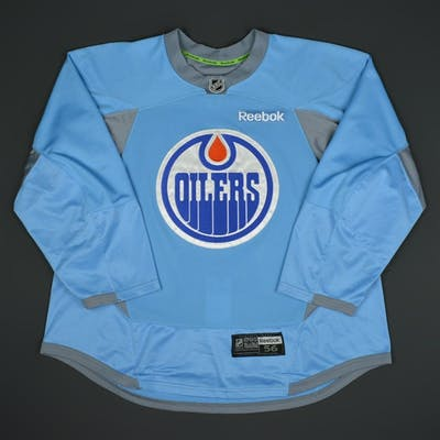 Oesterle, Jordan Light Blue Practice Jersey Edmonton Oilers 2015-16