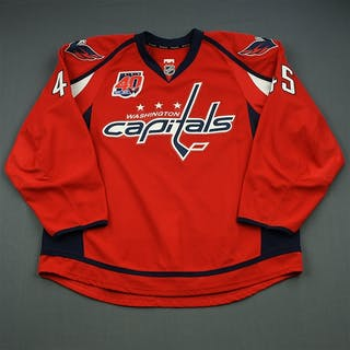 Schilling, Cameron Red Set 3 w/40th Anniversary Patch Washington Capitals