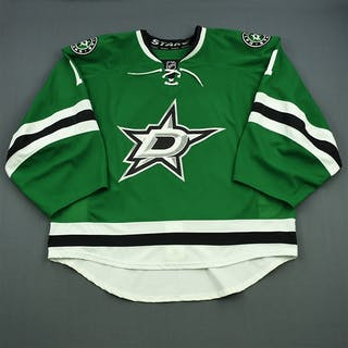 Campbell, Jack Green Set 1 - Game-Issued (GI) Dallas Stars 2014-15 #1 Size: 58G