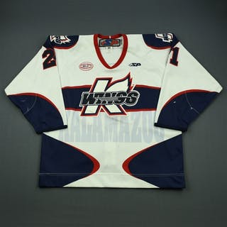 Cloutier, Dustin White Set 1 Kalamazoo Wings 2012-13 #21 Size: 54