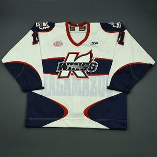 Lysak, Brett White Set 1 Kalamazoo Wings 2012-13 #11 Size: 56