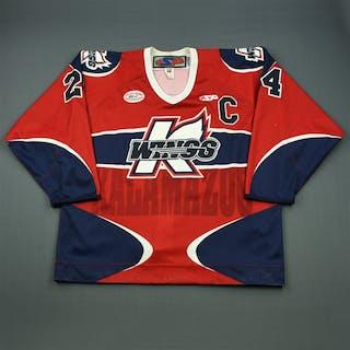 Reid, Elgin Red Set 1 w/C Kalamazoo Wings 2012-13 #24 Size: 56