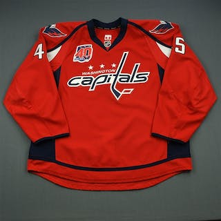 Schilling, Cameron Red Set 1 w/40th Anniversary Patch Washington Capitals