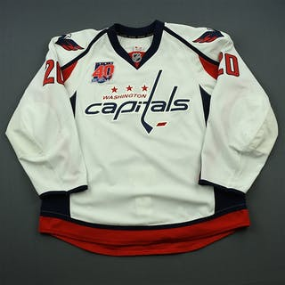 Brouwer, Troy White Set 1 w/40th Anniversary Patch Washington Capitals