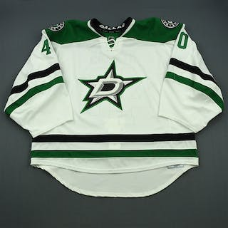 Rynnas, Jussi White Set 2 - Game-Issued (GI) Dallas Stars 2014-15