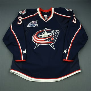 Leopold, Jordan Blue Set 1 w/All-Star Game Patch Columbus Blue Jackets