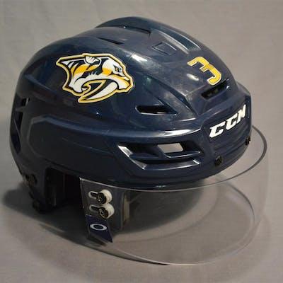 Jones, Seth Blue, CCM Helmet w/ Oakley Shield Nashville Predators 2014-15 #3