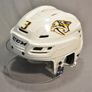 Jones, Seth White, CCM Helmet w/ Oakley Shield Nashville Predators 2014-15 #3