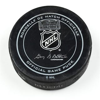 Columbus Blue Jackets Game-Used Puck November 28, 2014 vs. Vancouver
