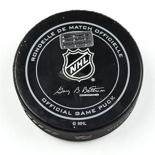 Columbus Blue Jackets Game-Used Puck December 1, 2014 vs. Florida