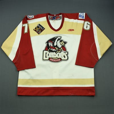 Nelson, Levi White Set 1 (C removed) Bakersfield Condors 2012-13 #76 Size: 54