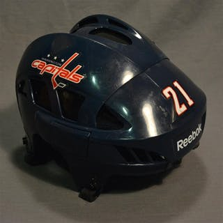 Laich, Brooks Blue, Reebok Helmet Washington Capitals 2014-15 #21