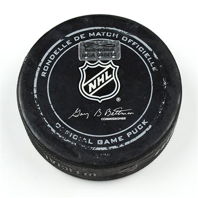Columbus Blue Jackets Game-Used Puck December 13, 2014 vs. Pittsburgh