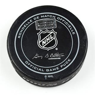 Columbus Blue Jackets Game-Used Puck October 31, 2014 vs. Toronto