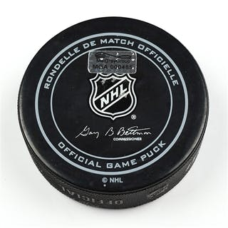 Columbus Blue Jackets Game-Used Puck December 27, 2014 vs. Boston