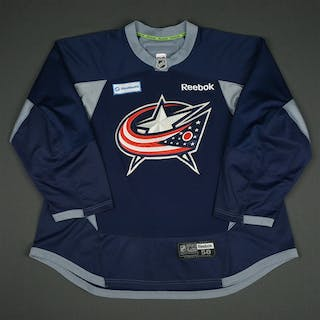 Boll, Jared Navy Practice Jersey w/ OhioHealth Patch Columbus Blue