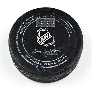 Columbus Blue Jackets Game-Used Puck November 15, 2014 vs. San Jose