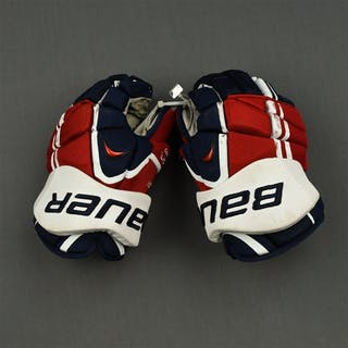 Carlson, John Bauer Vapor APX Gloves Washington Capitals 2013-14 #74