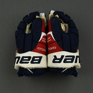 O'Brien, Liam Bauer Vapor APX 2 Gloves Washington Capitals 2014-15 #87
