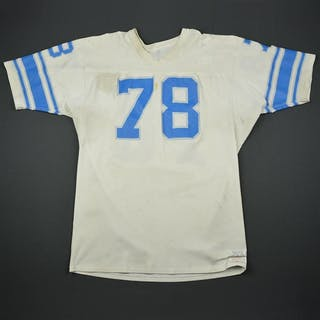 English, Doug (Name on Back Removed) * White Detroit Lions 1977-79 #78 Size: 52