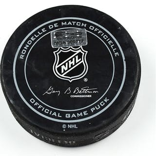 Columbus Blue Jackets Game-Used Puck January 10, 2015 vs. New York