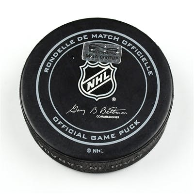 Columbus Blue Jackets Game-Used Puck January 14, 2015 vs. Montreal