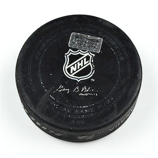 Columbus Blue Jackets Game-Used Puck January 16, 2015 vs. New York