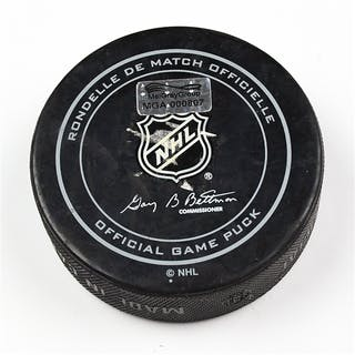 Columbus Blue Jackets Game-Used Puck February 6, 2015 vs. St. Louis