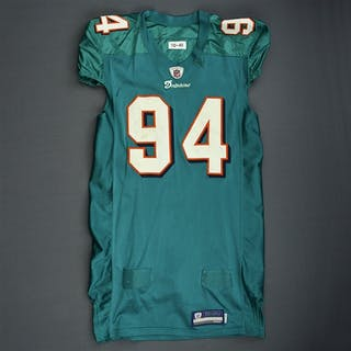 Starks, Randy * Aqua, Video-Matched Miami Dolphins 2011 #94 Size: 46