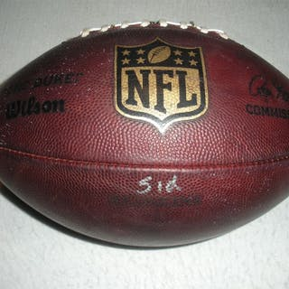 Game-Used Football Game-Used Football from September 21, 2014 vs.