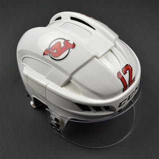 Boucher, Reid White, CCM Helmet w/ Oakley Shield New Jersey Devils #12