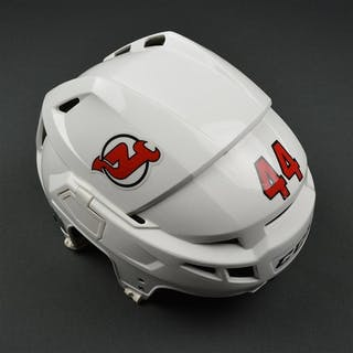 Wood, Miles White, CCM Helmet (shield removed) New Jersey Devils #44
