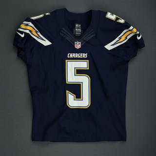 Scifres, Mike Navy - worn November 23, 2014 vs. St. Louis Rams San