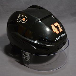 MacDonald, Andrew Black Third Easton E400 Helmet w/Visor Philadelphia