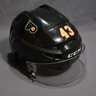 Manning, Brandon Black Third CCM Helmet w/Visor Philadelphia Flyers 2014-15 #43