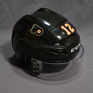 Raffl, Michael Black Third CCM Helmet w/Visor Philadelphia Flyers 2014-15 #12
