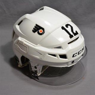 Raffl, Michael White CCM Helmet w/Visor Philadelphia Flyers 2014-15 #12