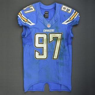 Attaochu, Jerry Powder Blue - worn December 7, 2014 vs. New England