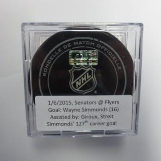 Simmonds, Wayne January 6, 2015 vs the Ottawa Senators (Flyers Logo)