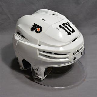 Schenn, Brayden White Bauer Helmet w/Visor Philadelphia Flyers 2014-15