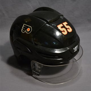 Schultz, Nick Black Third Warrior Helmet Philadelphia Flyers 2014-15 #55