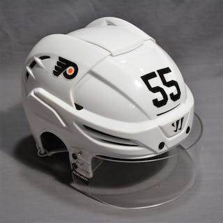 Schultz, Nick White Warrior Helmet w/Visor Philadelphia Flyers 2014-15 #55