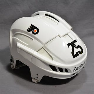 White, Ryan White Reebok Helmet Philadelphia Flyers 2014-15 #25 Size: Medium