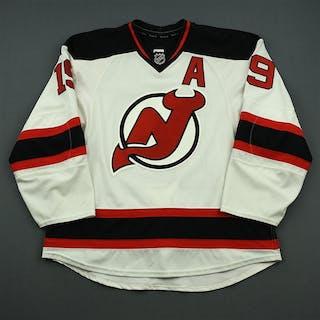 Zajac, Travis White Set 2 w/A New Jersey Devils 2014-15 #19 Size: 56