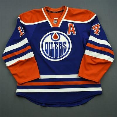 Eberle, Jordan Blue Set 1 w/A Edmonton Oilers 2014-15 #14 Size: 54