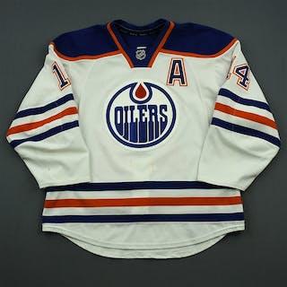 Eberle, Jordan White Set 2 w/A Edmonton Oilers 2014-15 #14 Size: 54
