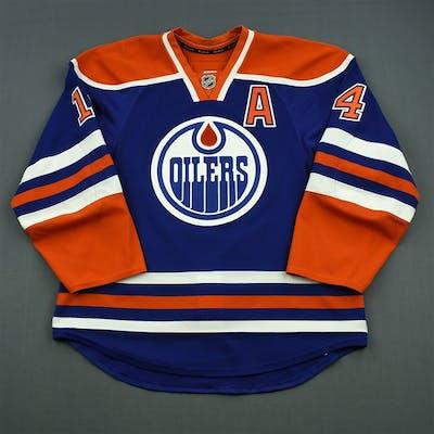 official photos 99f40 f512a Eberle, Jordan Blue Set 3 w/A Edmonton Oilers 2014-15 #14 ...