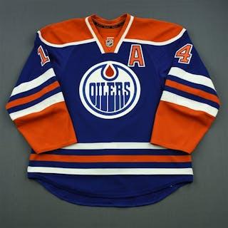 Eberle, Jordan Blue Set 3 w/A Edmonton Oilers 2014-15 #14 Size: 54