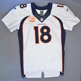 Manning, Peyton * White - worn 12/22/14 vs. Cincinnati Bengals Denver